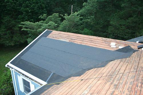 dach kryty papą